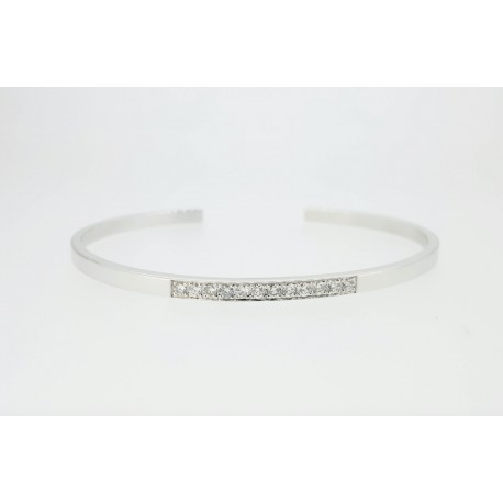 Bracelet esclave, diamants